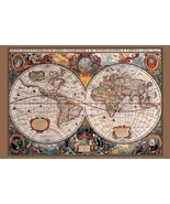 17th Century World Map Poster Print - $12.99