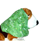 Lucky Irish St Patricks Day Cotton Dog Snood by Howlin Hounds Size Puppy... - $9.50