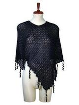 Black weaved wrap made of  Babyalpaca wool - ₨7,726.64 INR