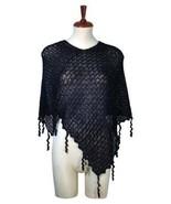 Black weaved wrap made of  Babyalpaca wool - $113.00