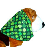Dog Snood St Patricks Day Green Shamrocks Dots Cotton Basset Hound Size ... - $12.50