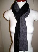 Bicolor crocheted scarf,shawl made of Babyalpaca wool - ₨6,103.93 INR