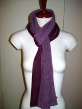 Bicolor crocheted scarf,shawl made of Babyalpaca wool - $87.00