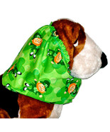 Dog Snood St Patricks Day Green Leprechauns and Shamrocks Cotton Size Small - $11.50