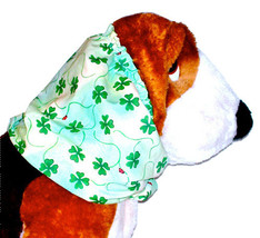 Dog Snood Shamrocks Lady Bugs St Patrick Cotton Basset Hound Springer Si... - $11.50