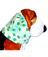 Dog Snood Shamrocks Lady Bugs St Patrick Cotton Basset Hound Springer Si... - $13.00
