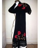 Embroidered shawl,wrap made of pure Alpaca wool - $191.00