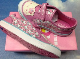 Keds Hello Kitty Glittery Kitty Pink Blue Velcro Sneaker Toddler Size 5.... - $23.00