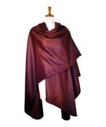 Cape made of surialpaca wool, burgundy wrap - $295.00
