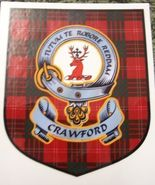 Crawford Clan Tartan Clan Crawford Badge Sticker - $5.50