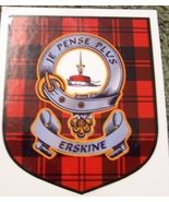 Erskine Clan Tartan Clan Erskine Badge Sticker - $5.50