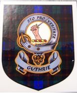 Guthrie Clan Tartan Clan Guthrie Badge Sticker - $5.50