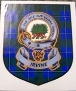 Irvine Clan Tartan Clan Irvine Badge Sticker - $5.50