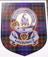 MacDonald 2 Clan Tartan Clan MacDonald 2 Badge ... - $5.50