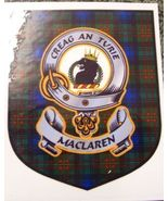 MacLaren Clan Tartan Clan MacLaren Badge Sticker - $5.50