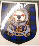 MacLeod 1 Clan Tartan Clan MacLeod 1 Badge Sticker - $5.50