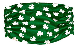 Dog Snood Green White Shamrocks Cotton Spaniel Basset Afghan Puppy REGULAR - $10.50