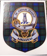 Malcolm Clan Tartan Clan Malcolm Badge Sticker - $5.50