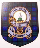 Morrison Clan Tartan Clan Morrison Badge Sticker - $5.50
