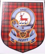 Scott Clan Tartan Clan Scott Badge Sticker - $5.50