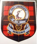 Wallace Clan Tartan Clan Wallace Badge Sticker - $5.50