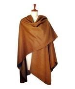 brown cape, shawl made of Surialpaca Wool, wraps - $295.00