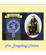 Forbes Clan Tartan Clan Forbes Badge Postcard - $6.00