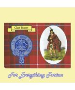 Fraser Clan Tartan Clan Fraser Badge Postcard - $6.00