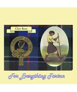 Rose Clan Tartan Clan Rose Badge Postcard - $6.00