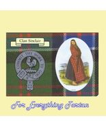 Sinclair Clan Tartan Clan Sinclair Badge Postcard - $6.00