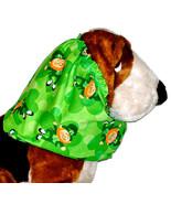 Dog Snood St Patricks Day Green Leprechauns Shamrocks Cotton Sz Puppy RE... - $10.50
