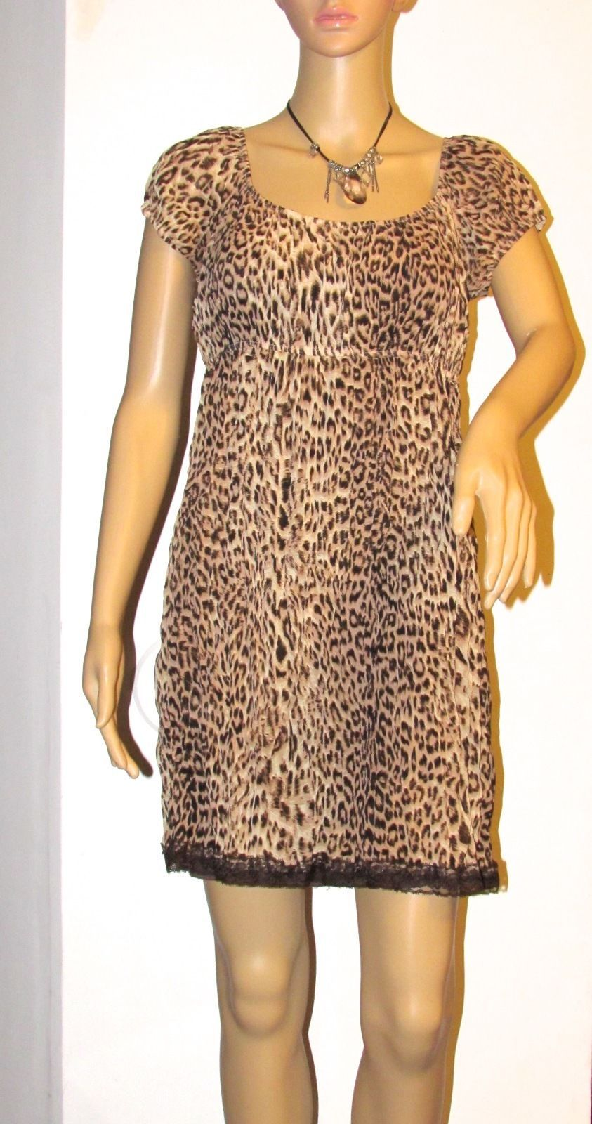 Lots of Love by Speechless Leopard Print Multi-Color Lined Dress S: M-Juniors