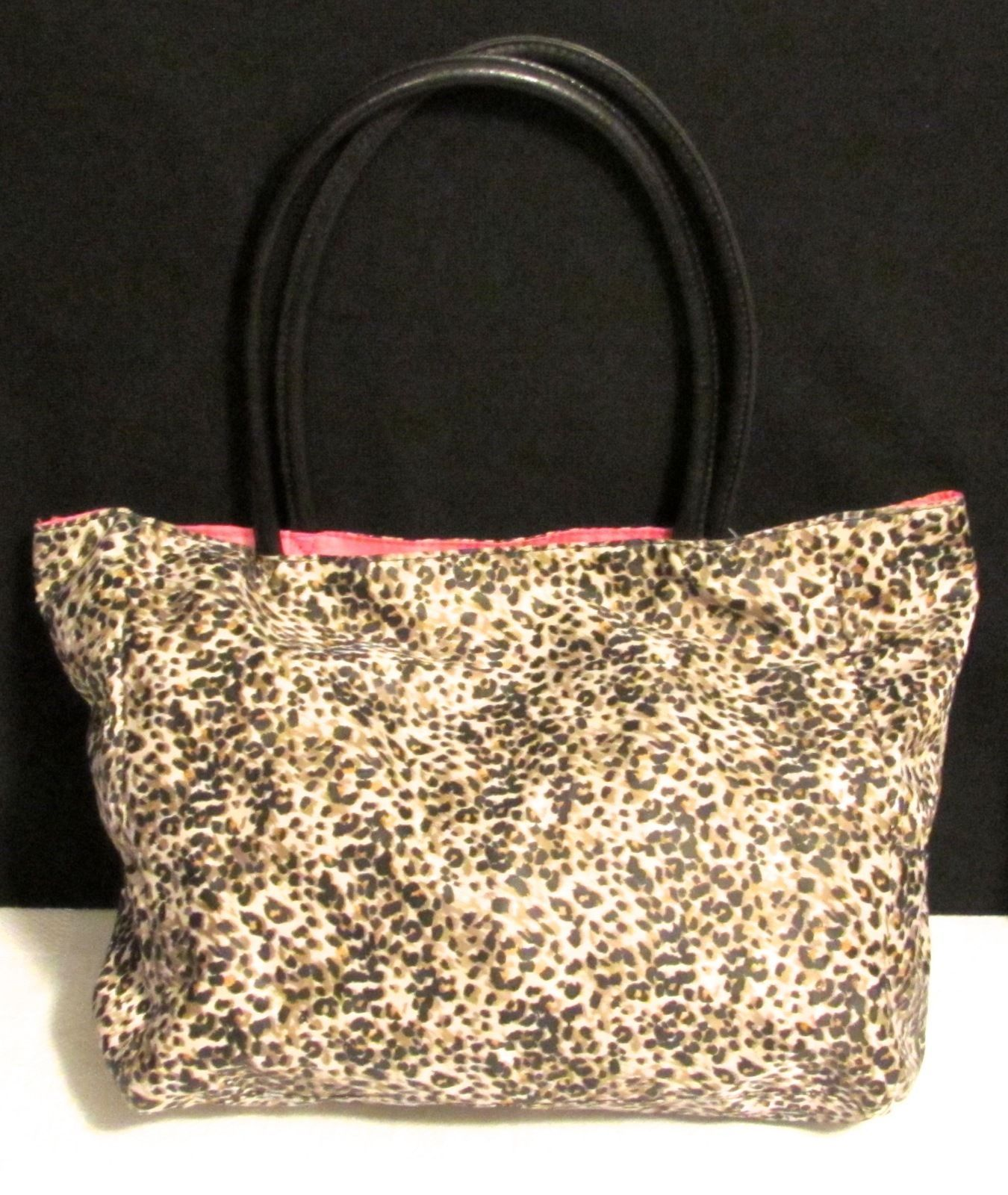 Wacoal Large Lightweight Leopard Print Shopper/Tote Pink Lining Multi-Color PVC