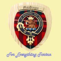 Clan MacGregor Tartan Woodcarver Wooden Wall Pl... - $120.00