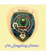 Clan MacLaren Tartan Woodcarver Wooden Wall Pla... - $120.00