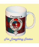 Chisholm Tartan Clan Crest Ceramic Mug Clan Bad... - $29.00