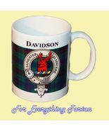 Davidson Tartan Clan Crest Ceramic Mug Clan Bad... - $29.00