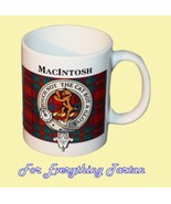 MacIntosh Tartan Clan Crest Ceramic Mug Clan Ba... - $29.00