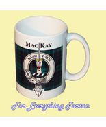 Mackay Tartan Clan Crest Ceramic Mug Clan Badge... - $29.00