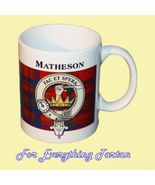 Matheson Tartan Clan Crest Ceramic Mug Clan Bad... - $29.00