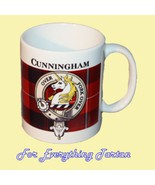 Cunningham Tartan Clan Crest Ceramic Mug Clan B... - $29.00