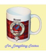 Rose Tartan Clan Crest Ceramic Mug Clan Badge Rose - $29.00