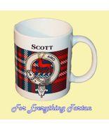 Scott Tartan Clan Crest Ceramic Mug Clan Badge ... - $29.00