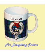 Graham Menteith Tartan Clan Crest Ceramic Mug C... - $29.00