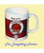 Grant Tartan Clan Crest Ceramic Mug Clan Badge ... - $29.00