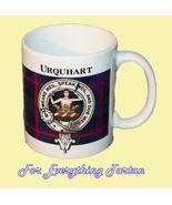 Urquhart Tartan Clan Crest Ceramic Mug Clan Bad... - $29.00