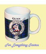 Gunn Tartan Clan Crest Ceramic Mug Clan Badge Gunn - $29.00