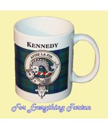 Kennedy Tartan Clan Crest Ceramic Mug Clan Badg... - $29.00
