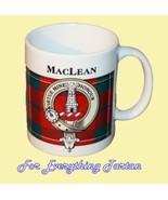 MacLean Tartan Clan Crest Ceramic Mug Clan Badg... - $29.00