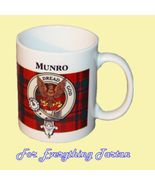 Munro Tartan Clan Crest Ceramic Mug Clan Badge ... - $29.00